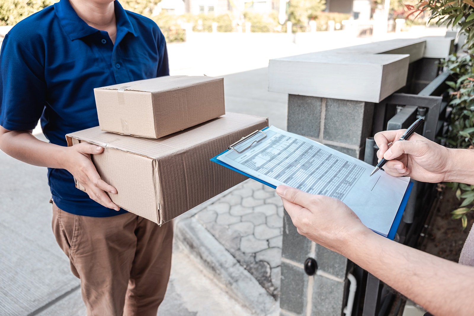 Packages heading your way in a condominum